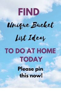 stay-at-home bucket list