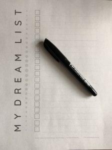 dream list template