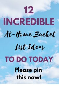 at-home bucket list