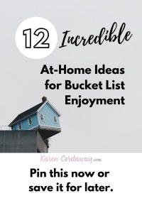 ideas for bucket list