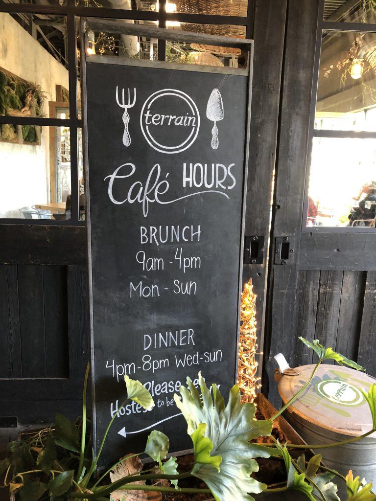 terrain cafe hours